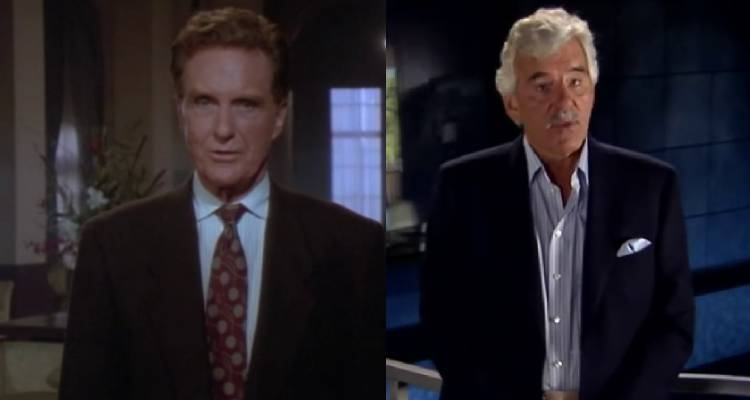 Previous iconic Unsolved Mysteries hosts Robert Stack (L) and Dennis Farina (R)